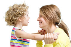 Happy mother and kid Stock Photos