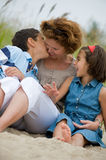 Happy mother and kids Stock Image