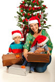 Happy mother with kids Royalty Free Stock Photos