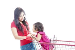 Happy mother laughing with her daughter Stock Photography