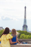 Happy mother and little adorable girl in Paris Stock Photography