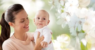 Happy mother with little baby boy royalty free stock photography