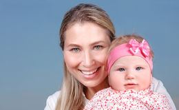 Happy mother with little baby Royalty Free Stock Photography