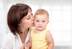 Happy mother with little baby Stock Photography