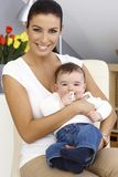 Happy mother with little boy Stock Images