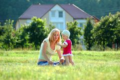 Happy mother and little child Royalty Free Stock Photography