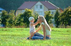 Happy mother and little child Stock Photography