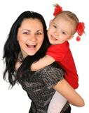 Happy mother with little daughter Stock Image
