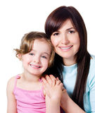 Happy mother with little daughter Royalty Free Stock Images