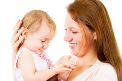 Happy mother and little daughter Royalty Free Stock Photos