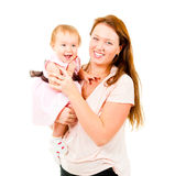 Happy mother and little daughter Stock Photo