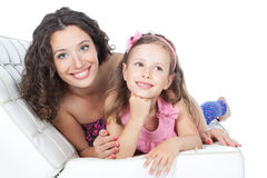 Happy mother with little daughter Stock Photos