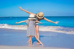 Happy mother and little daughter have fun at Royalty Free Stock Photography
