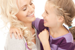 Happy mother and little girl Royalty Free Stock Photography