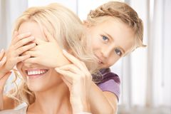 Happy mother and little girl Royalty Free Stock Images