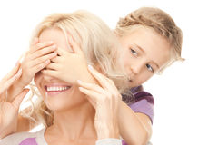Happy mother and little girl Stock Image