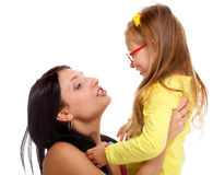 Happy mother and little girl having fun Stock Photography