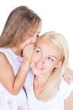 Happy mother with little pretty daughter Royalty Free Stock Photo