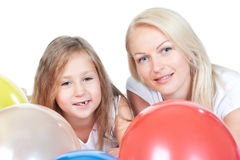 Happy mother with little pretty daughter Stock Photo