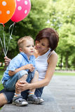 Happy mother and little son Stock Photography