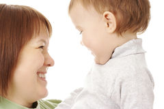 Happy mother looking at her child Royalty Free Stock Photography