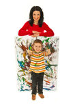 Happy mother and messy child Stock Photography