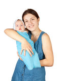 Happy mother with  newborn  baby Stock Photo