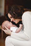 Happy mother with newborn baby Royalty Free Stock Images