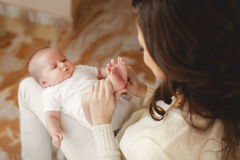 Happy mother with newborn baby Royalty Free Stock Photos