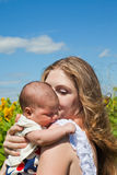 Happy mother and newborn child Royalty Free Stock Image