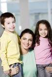Happy mother and offsprings. Smiling Stock Photography