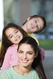 Happy mother and offsprings Royalty Free Stock Photos