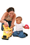 Happy Mother Play with Baby Boy Royalty Free Stock Photography