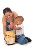 Happy Mother Play with Baby Boy Royalty Free Stock Image