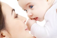 Happy mother playing with baby boy #2 Royalty Free Stock Photos