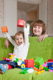 Happy mother plays with child Royalty Free Stock Photography