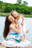 Happy mother and preschool girl Royalty Free Stock Photo