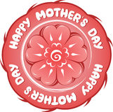 Happy Mother's Day. Sign. isolated over white Royalty Free Stock Photo