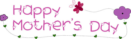 Happy Mother's Day. Banner stock illustration