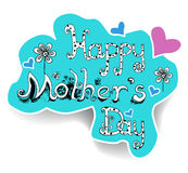 Happy Mother's Day. Greeting card design Stock Photography