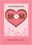 Happy Mother's Day. Mother's Day template with floral ornamants Stock Photos