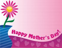 Happy Mother's Day. Note with flower decoration border a perfect layout for a greeting card Royalty Free Stock Photos