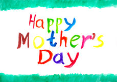 Happy mother's day. Hand Drawn water color painting for Mother's Day Royalty Free Stock Photography