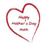 Happy Mother's Day. A Happy Mother's Day card Royalty Free Stock Photography