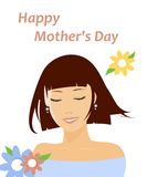 Happy Mother's Day. Mother's Day card. Vector illustration (eps 8 Stock Image