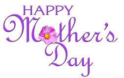 Happy Mother's Day. Mother's Day Greeting Card Headline or Graphic for Publications or Web Royalty Free Stock Photos