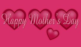 Happy mother's day. Card with hearths royalty free stock image