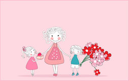 Happy mother`s day royalty free illustration