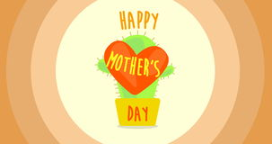 Happy mother`s day animation. With vector graphic stock footage