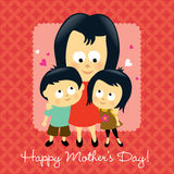 Happy Mother's Day Asian stock illustration